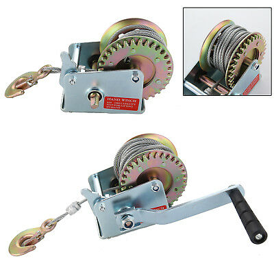 Manual Hand Winch 600lbs Boat Grailer Caravan 12m 39ft Cable Length Pull AI GR