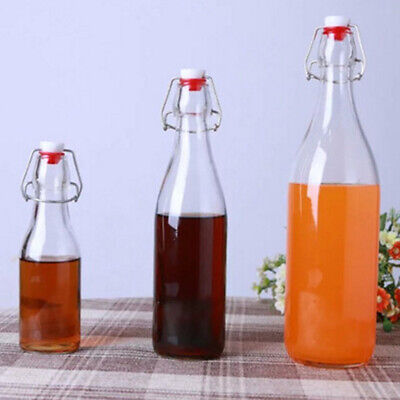 250ml 500ml 1000ml Classic Style Clear Glass Swing Top Bottle For Water Wine