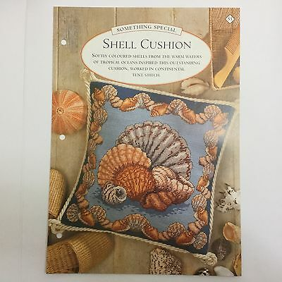 Needlework pattern: Shell Cushion tapestry design and instructions