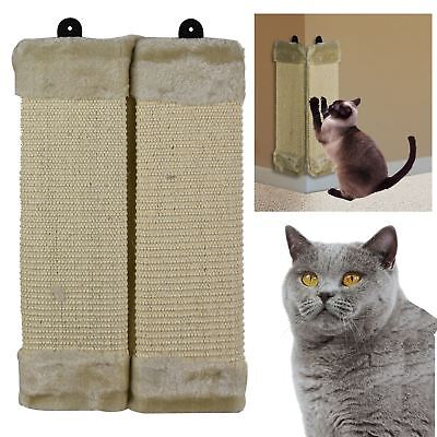 ASAB Pet Cat Kitten Hanging Wall Mounted Corner Scratch Post Sisal Board Mat
