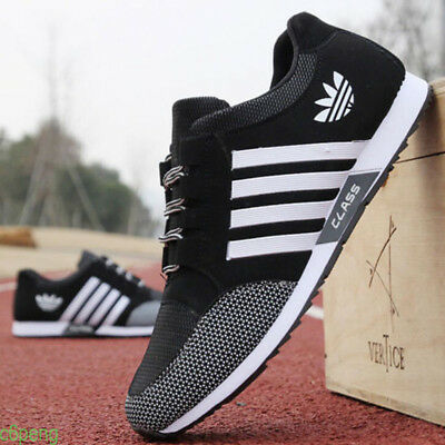 Men Mesh Trainers Breathable Sneakers Canvas Sports Running England Casual Shoes