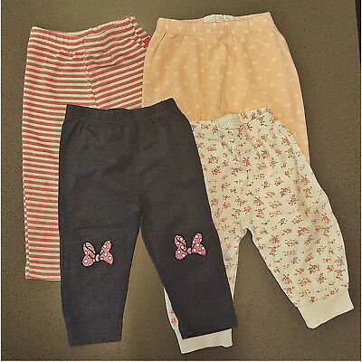 Baby Girls George 5 Bundle Leggings Navy Pink White Grey 6-12 6-9 9-12 Months