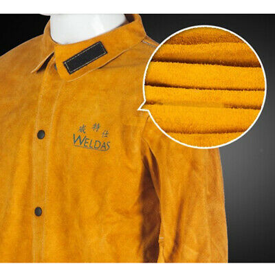 Welder Flame Retardant leather & fabric Jacket Coat Welding Welders New M