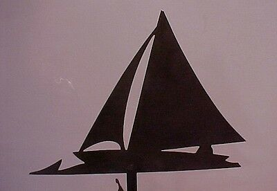 SAILBOAT WEATHERVANE EARLY 1900's NAUTICAL FOLK ART AMERICAN ANTIQUE