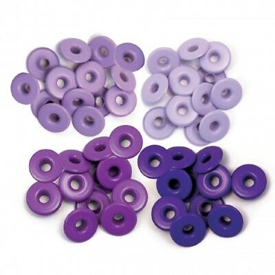 "WeR Memory Keepers Crop-A-Dile ""PURPLE"" 40 Eyelets, 0,5 cm, 4 Farben, Ösen"