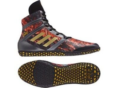 Adidas Wrestling Flying Impact Boots Shoes Black/Gold - CQ1767