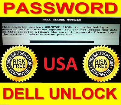 DELL BIOS Password Recovery for 1F5A, 3A5B