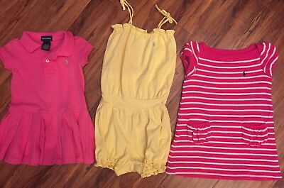 Lot of Ralph Lauren Polo girls dresses and outfits, EUC, size 18 months - 2T