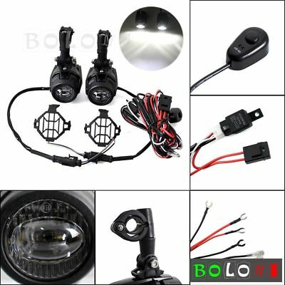 Fog Light Wiring Loom Harness LED Auxiliary Lamp Foglight Guard For BMW R1200 GS