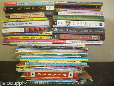 Lot of 10 Newberry Caldecott Winning Award AR RL Kid Children Books MIX UNSORTED