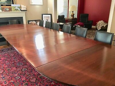 "Unique dining room table, Cherry wood, 54""x54"" can extend to 54""x161"",seats 18."