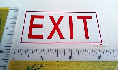 Exit Warning Safety Label Sticker - Part #670545