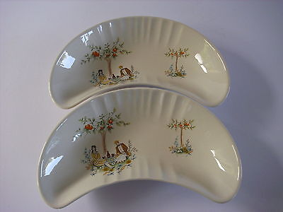 Pair Beswick Ware Side Salad Half Moon Dishes--Number 1693