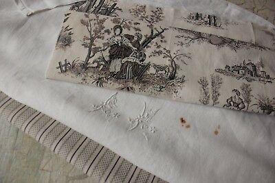 Vintage French fabrics antique material PROJECT BUNDLE for pillows sewing quilts