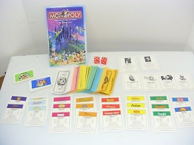 Monopoly disney edition replacement instructions 2001 rules book.