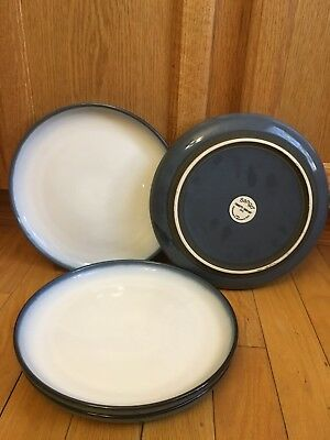 Set Of Four (4) Sango China Concepts Dinner Plates Eggplant Pattern #4942 & SANGO Concepts Eggplant 11\