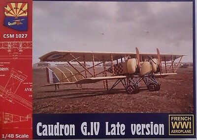 Copper State Models #K1027 - Caudron G.IV Late version, plastic kit w/PEP 1/48