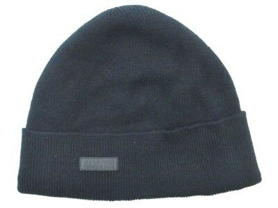 KENNETH COLE REACTION Black Knit Cuffed Beanie Winter Hat Size One Size NEW 45e6f798a72