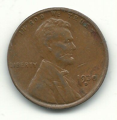 A Extra Fine Condition 1930 D Lincoln Cent-Old Us Coin-Jul096