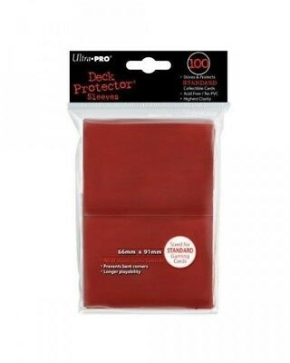Ultra Pro 100 pochettes Deck Protector Sleeves Rouge carte format standard 82694