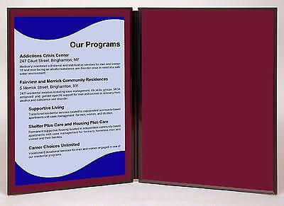 """Folding 2 panel 33"""" x 20"""" wine tabletop display for use with Velcro ® hook tape"""