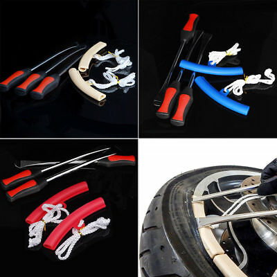 3x Tire Lever Tools Spoon Motorcycle Bike Tire Iron Change w/Wheel Rim Protector