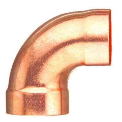 "(5) 1 1/2"" copper CXC SR 90 degree elbow  #W 62085"