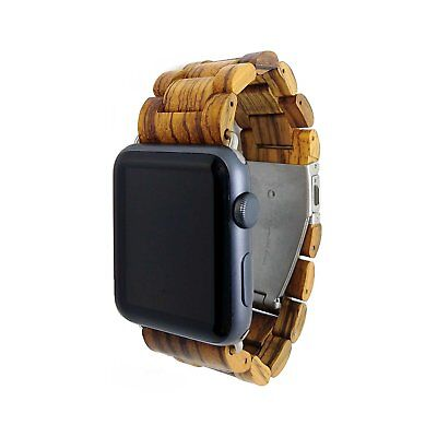 Apple Watch Band - Ottm 42mm Unique Hardwood Watch Strap for Apple iWatch with