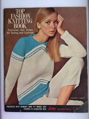 Vintage Top Fashion Knitting Book  1967  20 Woman's Own Patterns