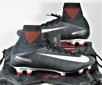 huge discount f400d a6211 Nike Mercurial Superfly V DF FG Flyknit ACC Black   White Sz 10.5 NEW 831940  002