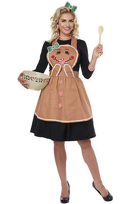 Gingerbread Apron Christmas Adult Costume