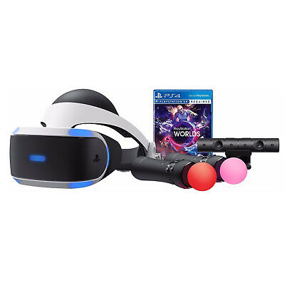 Sony PlayStation VR Worlds Bundle PS4 Virtual Reality Headset PSVR