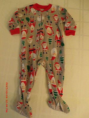 Boys footed one piece Santa Sleeper.  Size 12 months
