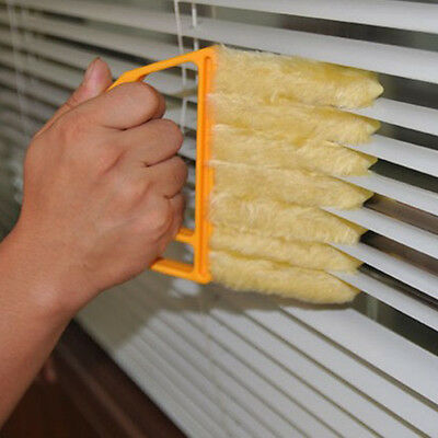 Pratical Yellow Mini Blind Blade Duster Brush Cleaner For Window Doors vent hole
