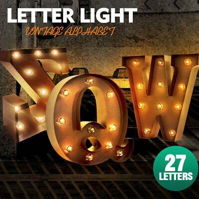 Number/Alphabet LED Letter Lights Light Up Metal Standing Hanging Marquee Decor