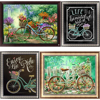Bicycle DIY 5D Diamond Painting Embroidery Bike Cross Stitch Home Decor Gift