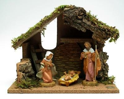 """""""Fontanini Nativity 3pc with Starter Stable plus DVD, MPN: 0182-54650"""""""