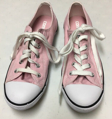 Converse All Star Ladies Pink Low Tennis Shoes, Sneakers, Size 8.5