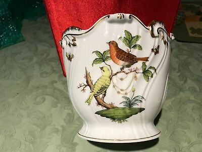 """Herend Hungary Bird Vase, new w tags 6"""" tall"""
