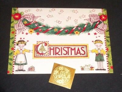 Mary Engelbreit tri fold Christmas card w/seal