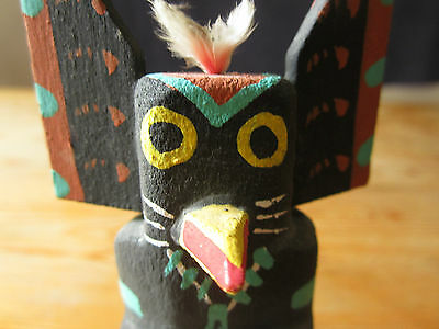 "Vintage Hopi Kachina Carving ROUTE 66  5.5"" tall"