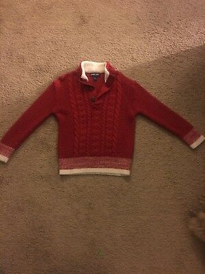 Cherokee Boys Red Cable Knit Sweater Size 5T