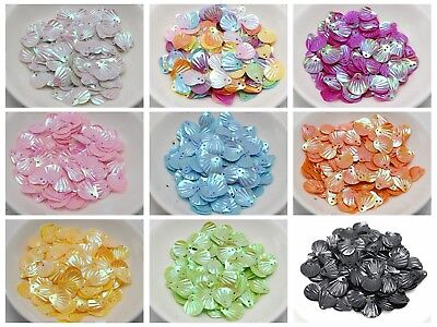1000 Shell loose sequins Paillettes 14mm Top Hole sewing Wedding craft
