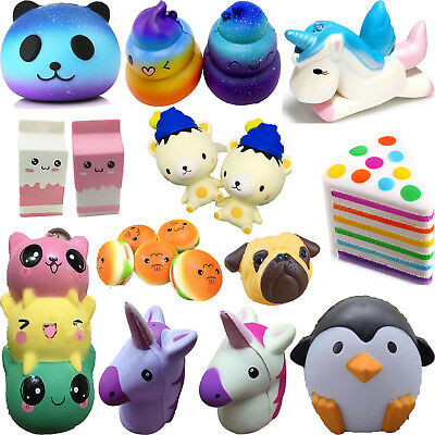 Realistic Jumbo Soft Squishy Squeeze Slow Rising Squishies Charms Collection Toy