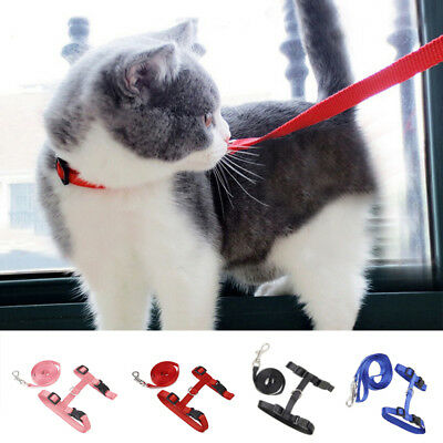 Adjustable Pet Small Dogs Puppy Cats Kitten Nylon Harness Collar Leash Lead Rope