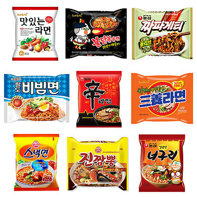 Korean Noodles Ramyun NongShim, SamYang, Paldo, Ottogi Ramen Collection