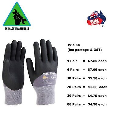 MaxiFlex  Ultimate Nitrile Work Glove 34-875 ( 34-874 Half Coat) -1 Pair
