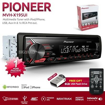 New PIONEER MVH-X195UI MIXTRAX USB AUX IN AM FM Radio Car Stereo Player Receiver
