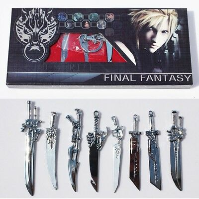 Final Fantasy Sword Weapon Keychain Pendant 8pcs Set