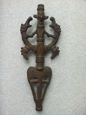 """Ancient Luristan Bronze Finial """"master Of The Animals"""""""